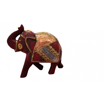 Wooden Elephant With Design
